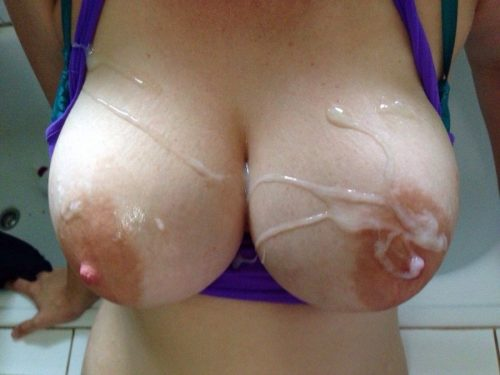 Любительская подборка больших сисек в сперме секс фото и порно фото